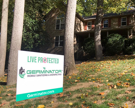 Image of a House with Live protected with Germinator Yard Sign
